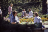 Students and staff on the quad, 1980