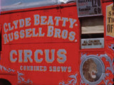 Behind-the-scenes at Cole Bros., Clyde Beatty and Russel Bros., and Ringling Bros. and Barnum & Bailey Circuses, circa...