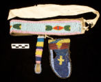 Blackfoot Beaded Belt with Pouches