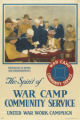 The spirit of war camp community service - invitations to homes and entertainments