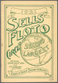 1921 Sells Floto Circus Official Season Route Book and Itinerary